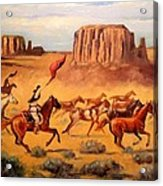Apache Horse Hunters Acrylic Print