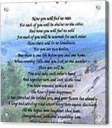 Apache Wedding Prayer Acrylic Print