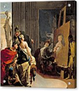 Apelles Painting The Portrait Of Campaspe Acrylic Print