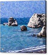 Aphrodites Rock Cyprus Acrylic Print