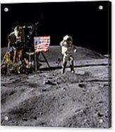Apollo 16 Lunar Landing Astronaut Young Acrylic Print