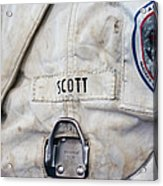 Apollo Lunar Suit Acrylic Print