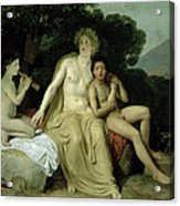 Apollo With Hyacinthus And Cyparissus Singing And Playing, 1831-34 Oil On Canvas Acrylic Print