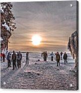 Apostle Islands Ice Cave Sunset Acrylic Print