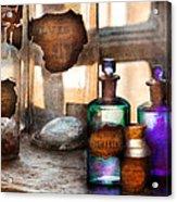 Apothecary - Oleum Rosmarini  Acrylic Print by Mike Savad