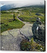 Appalachian Trail Mountain Path Saddleback Maine Acrylic Print