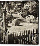 Appalachian Barnyard Acrylic Print
