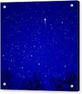Appalachian Mountain Starry Night Acrylic Print by Thomas R Fletcher