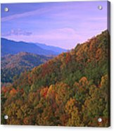 Appalachian Mountains Ablaze  Acrylic Print