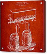 Apparatus For Beer Patent From 1900 - Red Acrylic Print