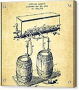 Apparatus For Beer Patent From 1900 - Vintage Acrylic Print