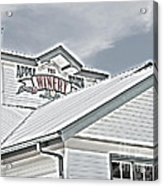 Apple Barn Winery Sign In Grayscale Acrylic Print