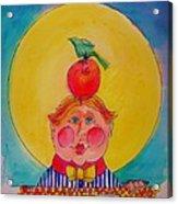 Apple Cheeks Acrylic Print