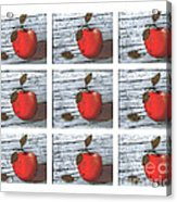Apple Collage Acrylic Print