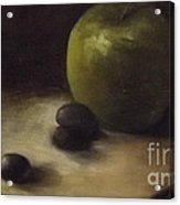 Apple Grapes Still Life Acrylic Print