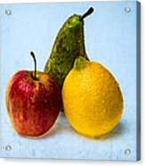 Apple - Lemon - Pear Acrylic Print
