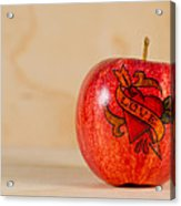 Apple Love Acrylic Print