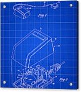 Apple Mouse Patent 1984 - Blue Acrylic Print