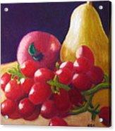 Apple Pear Grapes Acrylic Print