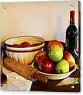 Apple Pie Impressions Acrylic Print