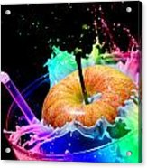 Apple Splash Acrylic Print