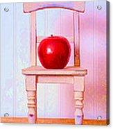 Apple Still Life With Doll Chair Acrylic Print by Edward Fielding