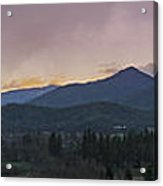Applegate Valley Se Winter Evening Acrylic Print