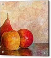Apples And A Pear Acrylic Print