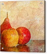 Apples And A Pear II Acrylic Print