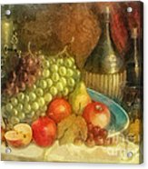 Apples And Grapes Acrylic Print