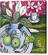 Apples And Lilies Acrylic Print