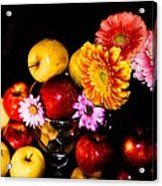 Apples And Suflowers Acrylic Print