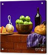 Apples Bread And Cheese Acrylic Print