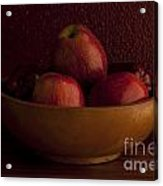 Apples In Bowl Still Life Acrylic Print