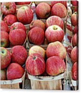 Apples In Small Baskets Acrylic Print