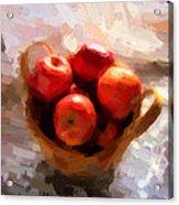 Apples On The Table Acrylic Print