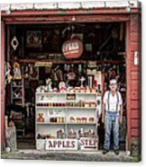 Apples. The Natural Temptation - Farmer And Old Farm Signs Acrylic Print