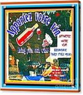 Apportez  Votre Vin Vintage French Bistro Signage Paris Style Menu Poster Decor Painting Cspandau Acrylic Print