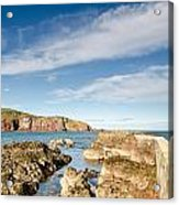 Approach To St Abbs Harbour Acrylic Print