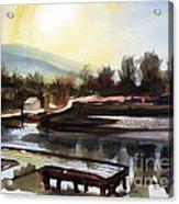 Approaching Dusk II Acrylic Print by Kip DeVore