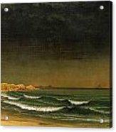 Approaching Storm Near Newport Beach Acrylic Print by Martin Heade