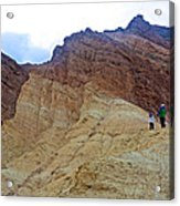 Approaching The Jagged Peaks In Golden Canyon In Death Valley National Park-california  Acrylic Print