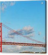 April 25th Bridge In Lisbon Acrylic Print
