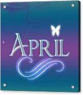 April Name Art Acrylic Print