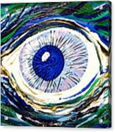 Aqua Eye Acrylic Print