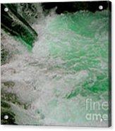 Aqua Falls Acrylic Print