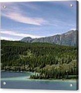 Aqua Green Mountain Lake Acrylic Print
