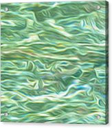 Aqua Green Water Art 2 Acrylic Print