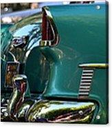 Aqua Marine Blue Chevy Acrylic Print
