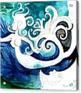Aqua Mermaid Acrylic Print